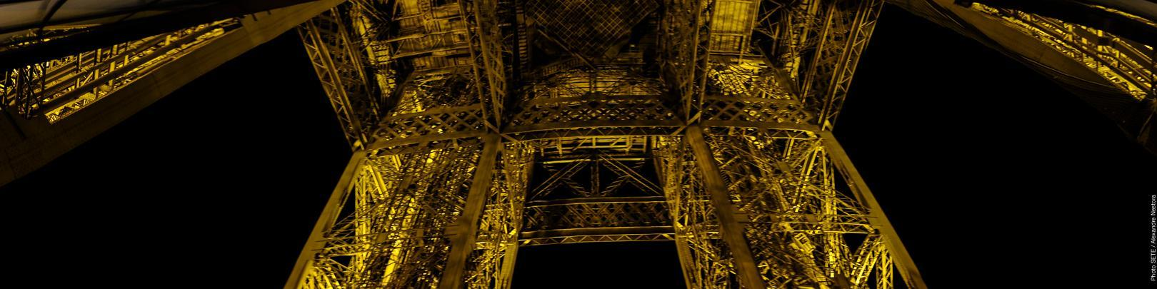 Eiffel Tower view at night