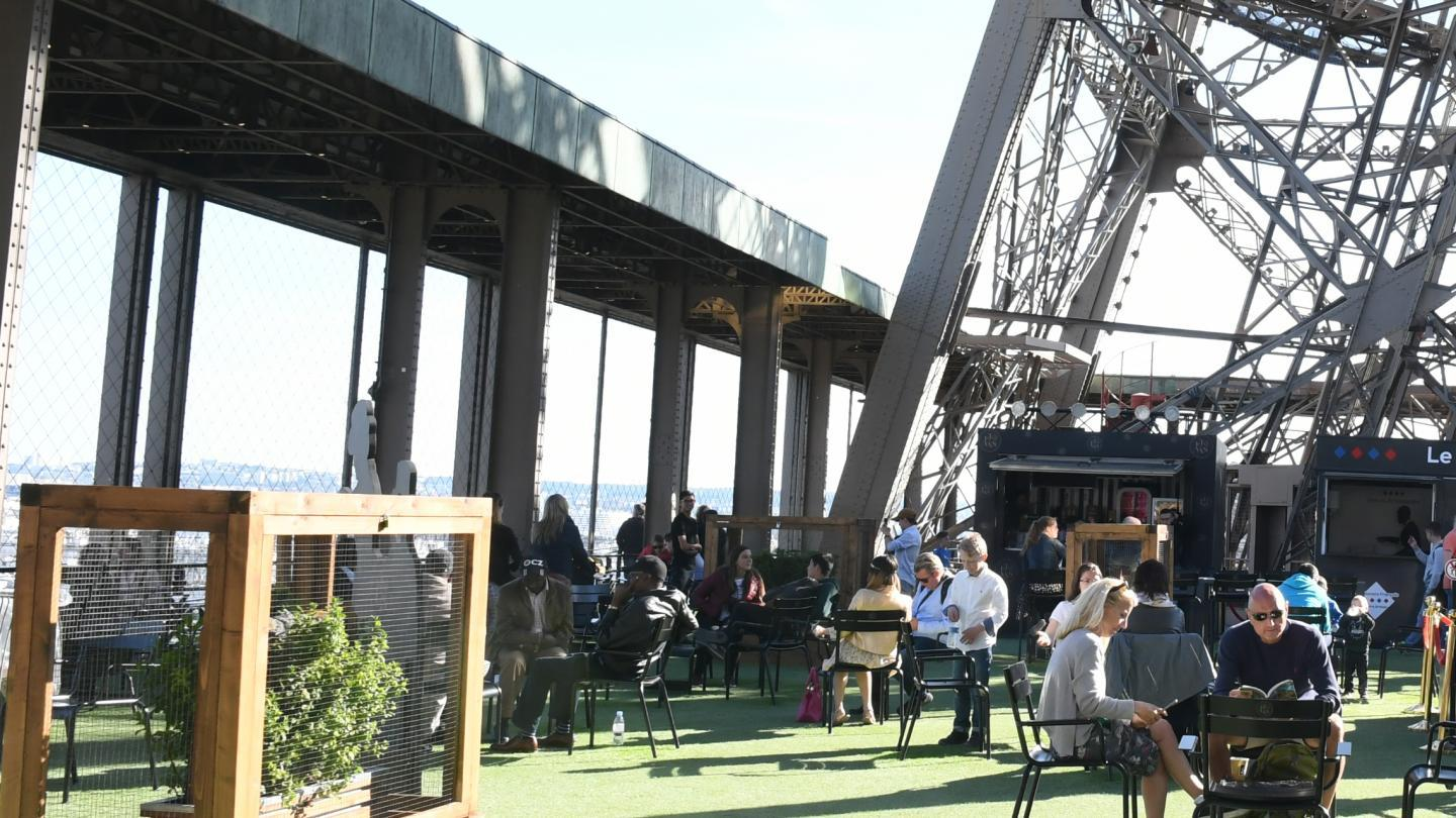 Photo de la terrasse tour Eiffel 2019