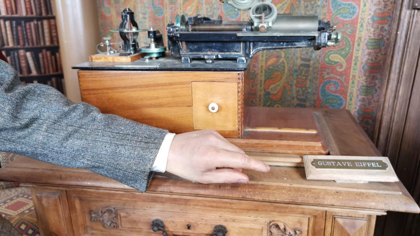 The phonograph offered by Thomas Edison