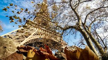 Photo de la tour Eiffel en hiver
