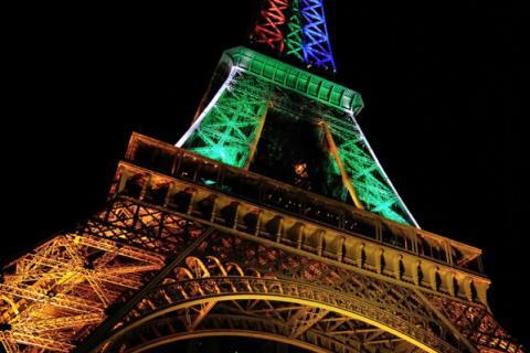 Eiffel Tower's 120th birthday illumination