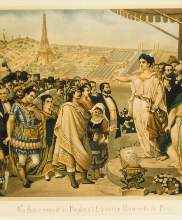Visitors during the Exposition Universelle