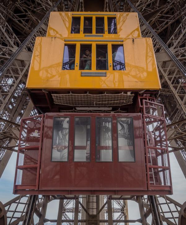 Eiffel Tower's elevators, a lift to the top - OFFICIAL website