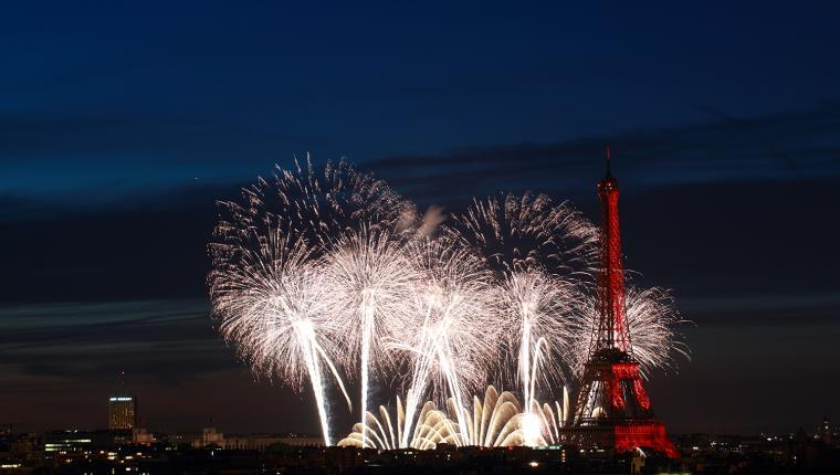 Photo feu d'artifice du 14 juillet 2018