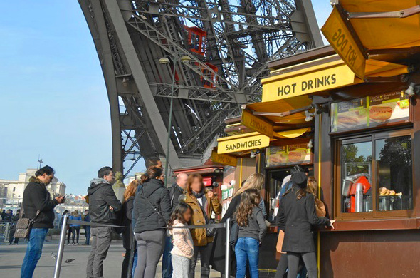 Restaurants Bars And Stores At The Eiffel Tower